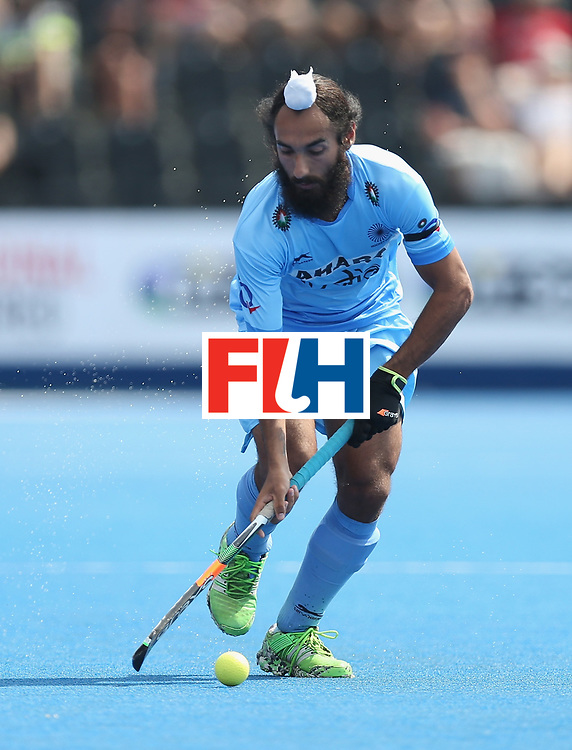 LONDON, ENGLAND - JUNE 18:  Pardeep Mor of India during the Hero Hockey World League Semi-Final match between Pakistan and India at Lee Valley Hockey and Tennis Centre on June 18, 2017 in London, England.  (Photo by Alex Morton/Getty Images)