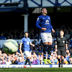 Everton's Ross Barkley reacts after his penalty is saved by Burnley Goalkeeper, Tom Heaton  - Photo mandatory by-line: Matt McNulty/JMP - Mobile: 07966 386802 - 18/04/2015 - SPORT - Football - Liverpool - Goodison Park - Everton v Burnley - Barclays Premier League