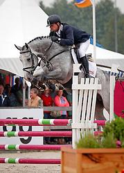 Brinkman Tom (NED) - Emir R<br /> 4 jarige Springpaarden<br /> KWPN Paardendagen Ermelo 2013<br /> © Dirk Caremans
