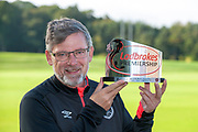 Craig Levein, manager of Heart of Midlothian, winner of Ladbrokes Manager of the Month for August 2018, at the Oriam Sports Performance Centre, Riccarton, Edinburgh, Scotland on 20 September 2018.
