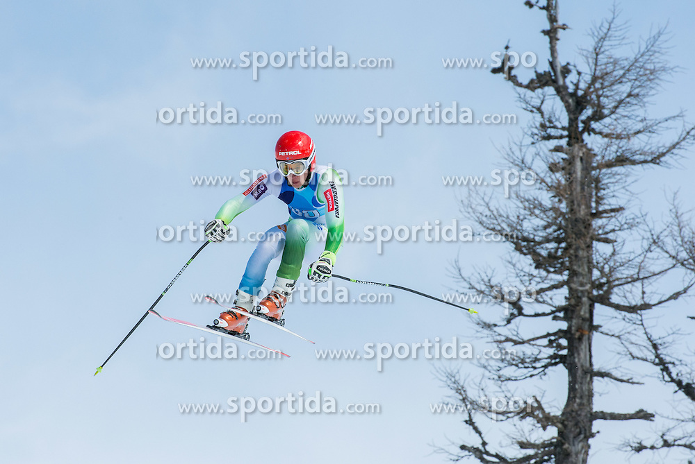 Zan Kranjec during Super G at Slovenian National Championship in Krvavec, Slovenia, on April 1, 2015. Photo by Marko Mavec / Sportida.com