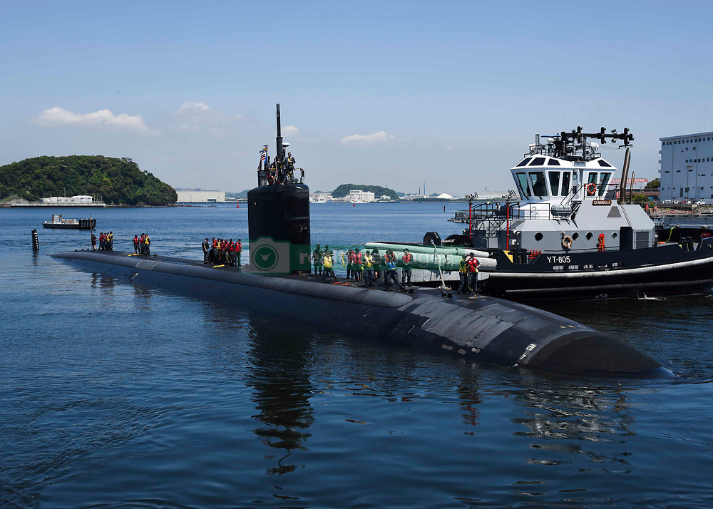 YOKOSUKA, Japan (May 11, 2017) The Los Angeles-class attack submarine USS Santa Fe (SSN 763) prepares to moor at Fleet Activities Yokosuka. Santa Fe is visiting Yokosuka for a port visit. U.S. Navy port visits represent an important opportunity to promote stability and security in the Indo-Asia-Pacific region, demonstrate commitment to regional partners and foster relationships. (U.S. Navy photo by Mass Communication Specialist 2nd Class Brian G. Reynolds/Released)170511-N-ED185-042<br /> Join the conversation:<br /> http://www.navy.mil/viewGallery.asp<br /> http://www.facebook.com/USNavy<br /> http://www.twitter.com/USNavy<br /> http://navylive.dodlive.mil<br /> http://pinterest.com<br /> https://plus.google.com