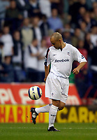 Fotball<br /> England 2005/2006<br /> Foto: SBI/Digitalsport<br /> NORWAY ONLY<br /> <br /> Bolton Wanderers v Newcastle United. The Barclays Premiership. 24/08/2005.<br /> <br /> Bolton's Stelios Giannakopoulos is the subject of transfer speculation amidst claims of moral wrongdoing by Liverpool.