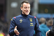 Aston Villa assistant manager John Terry during the Premier League match between Aston Villa and Newcastle United at Villa Park, Birmingham, England on 25 November 2019.