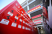 October 8, 2015: Russian GP 2015: Ferrari garage detail and list of Ferrari champions
