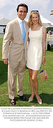 COUNT & COUNTESS ALESSANDRO GUERRINI-MARALDI, at a polo match in Berkshire on 28th July 2002.	PCL 293