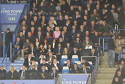 SHEFFIELD UNITED MANAGER CHRIS WILDER AND ASSISTANT ALAN KNILL AT LEICESTER GAME AS SHEFFIELD FACE LEEDS IN 3 DAYS TIME, Leicester City v Leeds United EFL League Carabao Cup  Fourth Round, King Power Stadium Tuesday 24th October 2017, Score 2-1, Photo:Mike Capps
