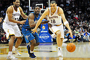 April 13, 2011; Cleveland, OH, USA; Cleveland Cavaliers shooting guard Anthony Parker (18) drives past Washington Wizards guard Othyus Jeffers (12) with a pick from Cleveland Cavaliers shooting guard Joey Graham (12) during the second quarter at Quicken Loans Arena. Mandatory Credit: Jason Miller-US PRESSWIRE