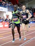 Feb 9, 2019; New York, NY, USA; Edward Cheserek places second in the Wanamaker Mile in 3:53.29 during the 112th Millrose Games at The Armory.