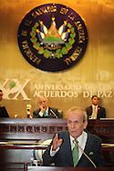 Ricardo Alarco presidente de la Asamble Nacional de Cuba recibe el galardon de la Asamblea Legislativa de El Salvador por parte del presidente Sigifrido Reyes al declararlo Noble amigo de El Salvador, Jueves NOV 22, 2012 San Salvador, El Salvador. Photo: Franklin Rivera/fmln/Imagenes Libres.