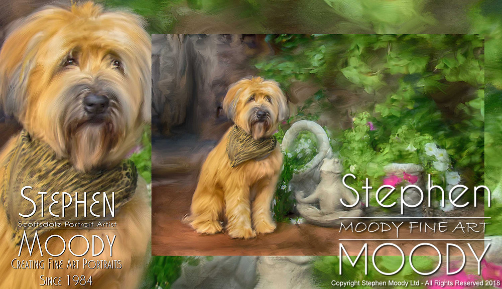 Wheaton Terrier Fine Art Pet Portraits by Stephen Moody - Scottsdale Portrait Artist and Master Photographer, Scottsdale, AZ