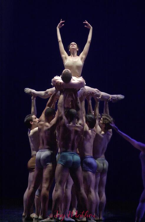 Sacramento Ballet performance Carmina Burana, choreographed by Ron Cunningham, artistic director of the company.  February 2002.