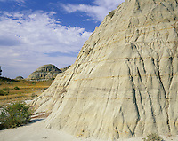 AA02176-04...NORTH DAKOTA - Clay buttes along Jones Creek in the South Unit of Theodore Roosevelt National Park.