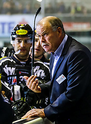 18.09.2015, Messestadion, Dornbirn, AUT, EBEL, Dornbirner Eishockey Club vs EC Red Bull Salzburg, 3. Runde, im Bild Dave MacQueen, (Dornbirner Eishockey Club, Head Coach) // during the Erste Bank Icehockey League 3rd round match between Dornbirner Eishockey Club vs EC Red Bull Salzburg at the Messestadion in Dornbirn, Austria on 2015/09/18. EXPA Pictures © 2015, PhotoCredit: EXPA/ Peter Rinderer