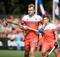 WAALWIJK -  RABO SUPER SERIE. Mink van der Weerden (Ned) tijdens  de hockeyinterland heren  Nederland-India,  ter voorbereiding van het EK,  dat vrijdag 18/8 begint.  COPYRIGHT KOEN SUYK