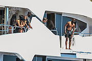 IBIZA, SPAIN, 2016, JULY 02 LeBron James, NBA player, Dwayne Wade and Chris Paul, with wives in Ibiza<br /> ©Exclusivepix Media