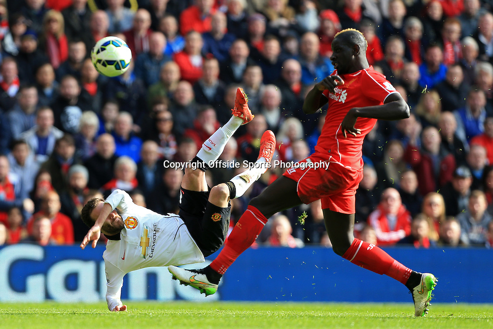 22nd March 2015 - Barclays Premier League - Liverpool v Manchester United - Juan Mata of Man Utd scores their 2nd goal - Photo: Simon Stacpoole / Offside.