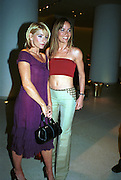 Tara Palmer-Tompkinson and Michelle Collins.  Pre Bafta party jointly hosted by Tina Brown and Elizabeth Murdoch. St. Martin's Lane Hotel. 8 April 2000<br />