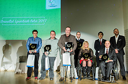 Shooting team of Slovenia during Slovenian Disabled Sports personality of the year 2017 event, on December 6, 2017 in Austria Trend Hotel, Ljubljana, Slovenia. Photo by Vid Ponikvar / Sportida