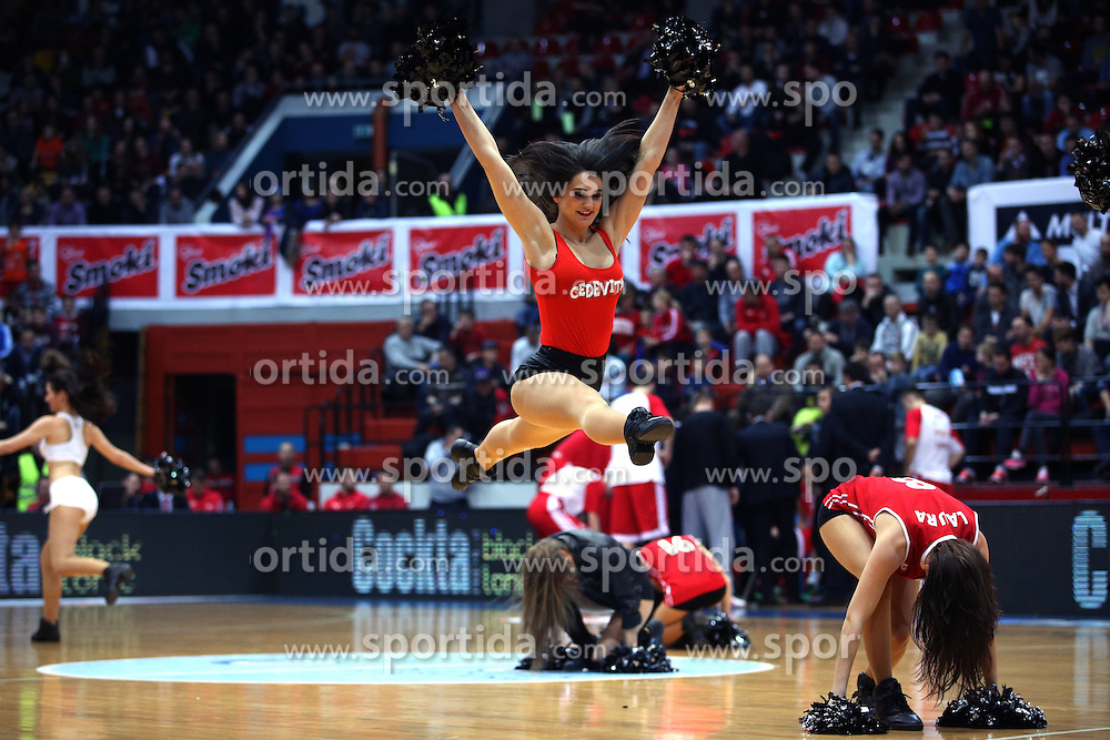 Cedevitas, cheerleading team of KK Cedevita during Euroleague basketball match in 6th Round of TOP 16 between KK Cedevita Zagreb and Panathinaikos BSA Athens, on  Febrauary 4th, 2016, in Drazen Petrovic basketball hall, Zagreb, Croatia. Photo by Matic Klansek Velej / Sportida