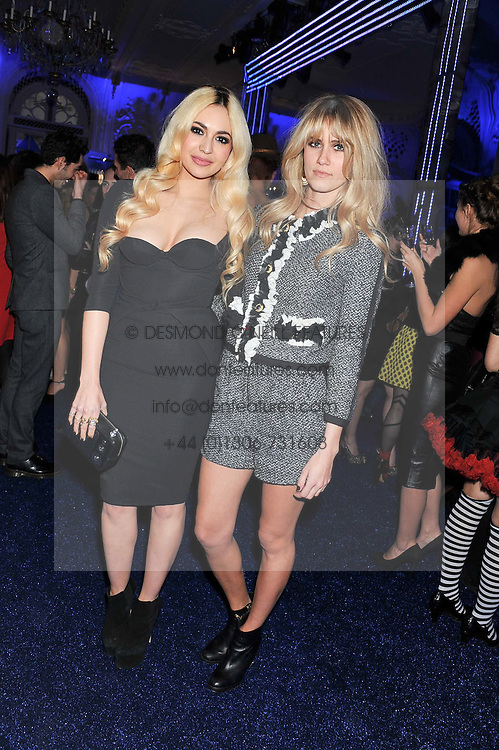 Left to right, ZARA MARTIN and JADE WILLIAMS at the Warner Music Group Post Brit Awards Party in Association with Samsung held at The Savoy, London on 20th February 2013.