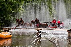 Harm Mareike, GER, Amicello, G, Luxus Boy, Quebec Sautreuil, Zazou 30<br /> Donaueschingen - CHI mit Europameisterschaft Gespannfahren 2019<br /> Marathon Four-in-hand horses Driving European Championship<br /> Vierspänner Marathon<br /> 17. August 2019<br /> © www.sportfotos-lafrentz.de/Dirk Caremans