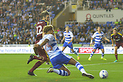 Reading FC midfielder (23) Danny Williams gets around Ipswich Town midfielder Jonathan Douglas (22) during the EFL Sky Bet Championship match between Reading and Ipswich Town at the Madejski Stadium, Reading, England on 9 September 2016. Photo by Mark Davies.