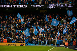 MANCHESTER, ENGLAND - Saturday, October 21, 2017: Manchester City's supporters during the FA Premier League match between Manchester City and Burnley at the City of Manchester Stadium. (Pic by Peter Powell/Propaganda)