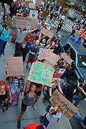 New York City, NY, Sept 26th 2011, participants of the Occupy Wall Street protest movement march through the streets of the  financial center  ten days after their movement began on Sept. 17th.