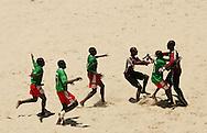 Football-FIFA Beach Soccer World Cup 2006 - Group C- Uruguay - Cameroon, Beachsoccer World Cup 2006. Cameroon's players- Rio de Janeiro - Brazil 06/11/2006. Mandatory credit: FIFA/ Manuel Queimadelos