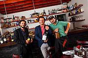 Via Verdi partners, from left:  mixologist Cristiano Vezzoli , Chef Fabrizio Carro and Chef Nicola Carro