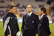 16th August, 2003. Eden Park, Auckland, New Zealand. Bledisloe Cup Match. New Zealand v Australia.<br />Mark hammett, John Mitchell, Robbie Deans.<br />The All Blacks won the match, 21 - 17.<br />Pic: Andrew Cornaga/Photosport