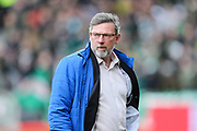 Heart of Midlothian manager Craig Levein during the Ladbrokes Scottish Premiership match between Heart of Midlothian and Celtic at Tynecastle Stadium, Gorgie, Scotland on 17 December 2017. Photo by Craig Doyle.