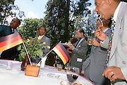 ADDIS ABABA, ETHIOPIA..German Embassy. Reception for the Diplomatic Corps celebrating Reunification Day (= German National Holiday)..(Photo by Heimo Aga)