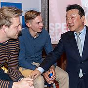 NLD/Almere/20190410 - Perspresentatie Icederby 2019/2020, Michel Mulder, Bart Swings en Do Joung Hyun