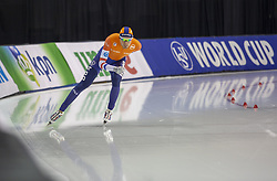 March 9, 2019 - Salt Lake City, Utah, USA - Patrick Roest of the Netherlands competes in the 5000m speed skating finals at the ISU World Cup at the Olympic Oval in Salt Lake City, Utah. Roest finished with a time of 6:03.70. (Credit Image: © Natalie Behring/ZUMA Wire)