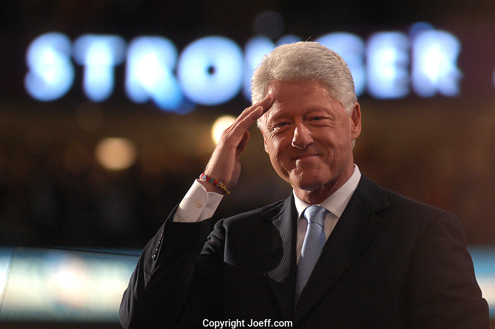 Former President Bill Clinton speaking at the Democratic National Convention, Boston Massachusetts, July 26, 2004.