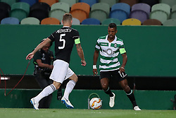 September 20, 2018 - Lisbon, Portugal - Sporting's forward Nani from Portugal (R ) vies with Qarabag's defender Maksim Medvedev during the UEFA Europa League Group E football match Sporting CP vs Qarabag at Alvalade stadium in Lisbon, on September 20, 2018. (Credit Image: © Pedro Fiuza/NurPhoto/ZUMA Press)