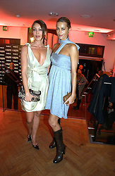 Left to right, TAMARA MELLON and YASMIN LE BON at the 6th annual Lancome Colour Design Awards in association with CLIC Sargent Cancer Care held at Lindley Hall, Victoria, London on 28th November 2006.<br /><br />NON EXCLUSIVE - WORLD RIGHTS