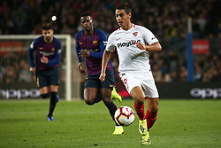 October 20, 2018 - Barcelona, Catalonia, Spain - Ben Yedder during the match between FC Barcelona and Sevilla CF, corresponding to the week 9 of the Liga Santander, played at the Camp Nou, on 20th October 2018, in Barcelona, Spain. (Credit Image: © Joan Valls/NurPhoto via ZUMA Press)