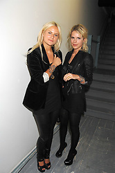 Left to right, OLYMPIA SCARRY and EUGENIE NIARCHOS at a party to celebrate the opening of a new art gallery, 20 Hoxton Square, Hoxton Square, London on 27th April 2007.<br />