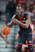 FAYETTEVILLE, AR - MARCH 4:  William Jackson II #0 of the Georgia Bulldogs directs the offense during a game against the Arkansas Razorbacks at Bud Walton Arena on March, 2017 in Fayetteville, Arkansas.  The Razorbacks defeated the Bulldogs 85-67.  (Photo by Wesley Hitt/Getty Images) *** Local Caption *** William Jackson II