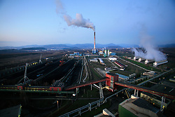 CZECH REPUBLIC PRUNEROV 22MAR10 - General view of the Prunerov brown coal-fired power station in north Bohemia. Prunerov is the largest source of carbon dioxide emissions pollution in the Czech Republic...jre/Photo by Jiri Rezac / GREENPEACE
