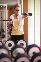 young woman at gym