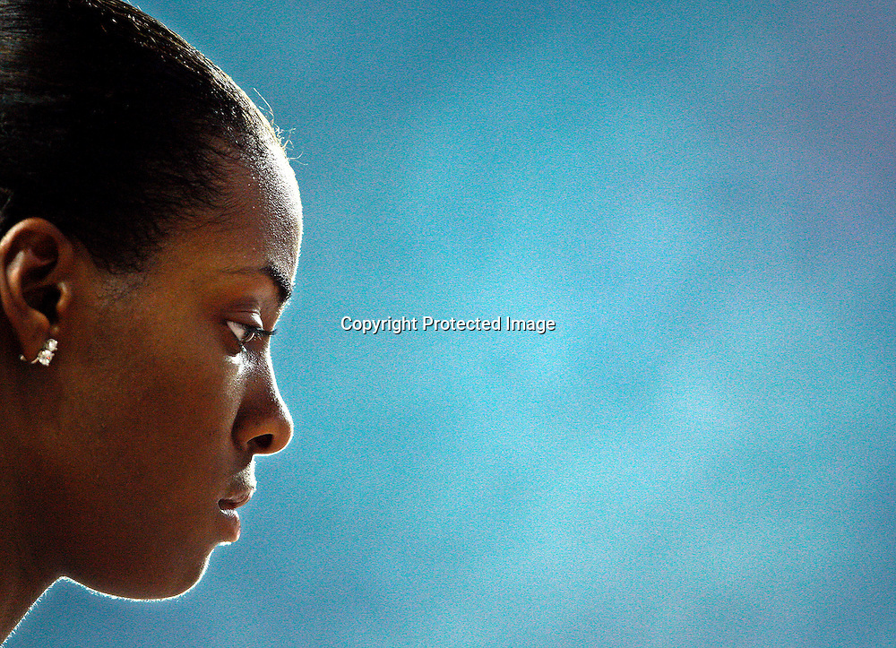 DeeDee Trotter of the USA prepares for the start of her 400m semi final at the 11th IAAF World Championships in Athletics, Osaka, Japan, 27 August 2007.  EPA/KERIM OKTEN