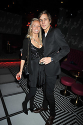 MARTHA WARD andTOBY KNOTT at a party following the Issa fashion show at the February 2009 Fashion Week held at Raffles, King's Road, London on 23rd February 2009.