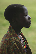 Portrait of a young Didinga girl in Nagishot, South Sudan.