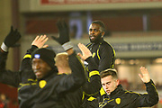 Burton Albion's Darren Bent warms up during the EFL Sky Bet Championship match between Barnsley and Burton Albion at Oakwell, Barnsley, England on 20 February 2018. Picture by John Potts.