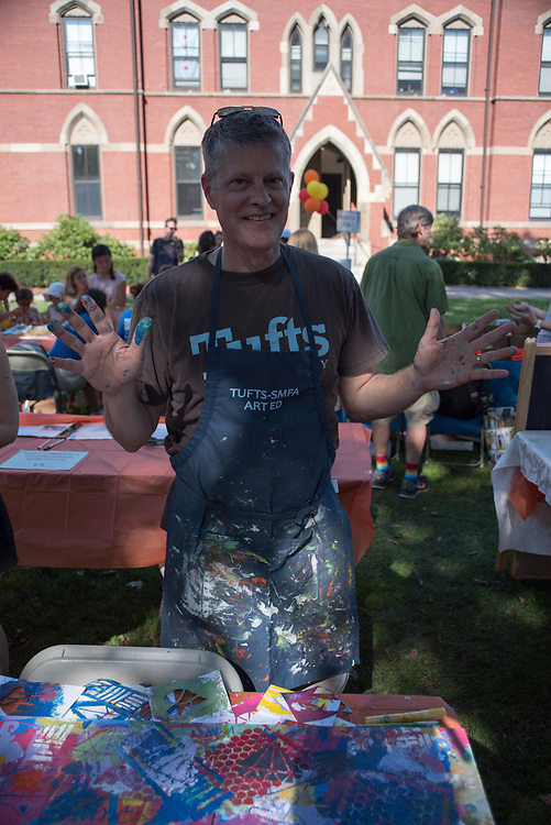 9/24/17 – Medford/Somerville, MA – Karl Stephan (MAT`2015) poses for a portrait during Tufts Community Day on September 24. (Seohyun Shim / The Tufts Daily)