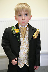 Pageboy at a registry office wedding,